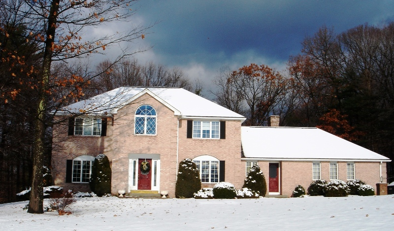 Our house in the new snow