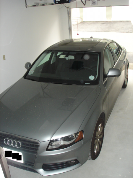 Here's my A4 in its garage