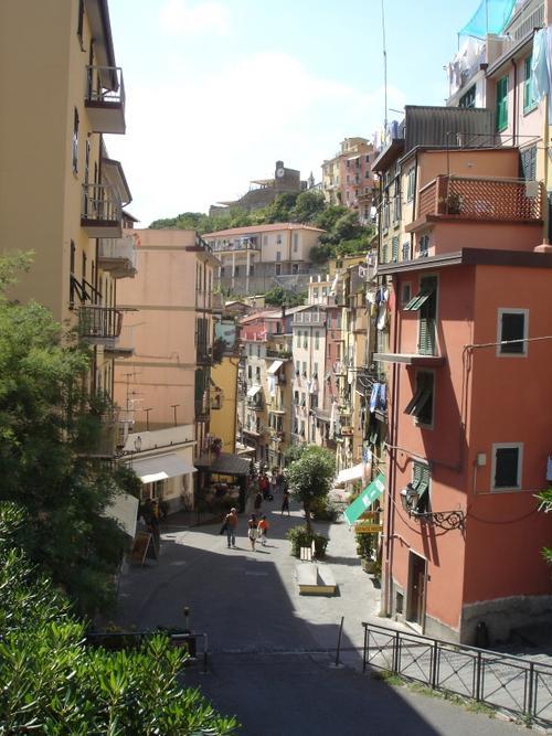 Riomaggiore's main road